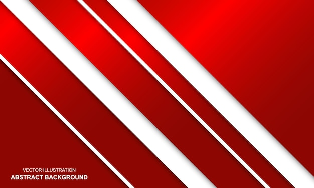 Vector moderne achtergrond abstract wit en rood