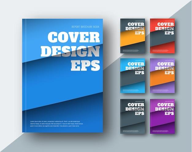 Vector moderne covers met diagonale gekleurde strepen.