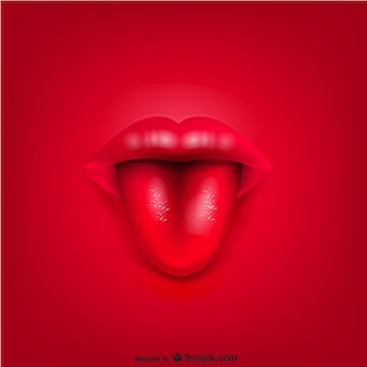Vector mond lippen achtergrond