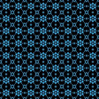 Vector monogram blauw ornament naadloos patroon