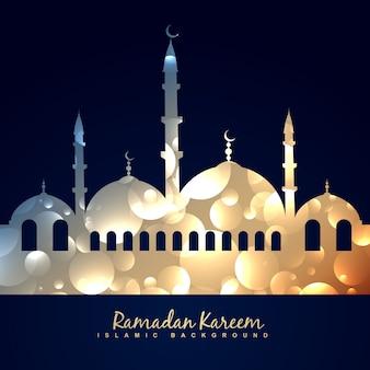 Vector mooie glanzende moskee illustratie