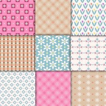 Vector mooie pastel naadloze patronen. eindeloze textuur voor behang