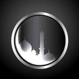 Vector moslim festival eid ul fitar achtergrond