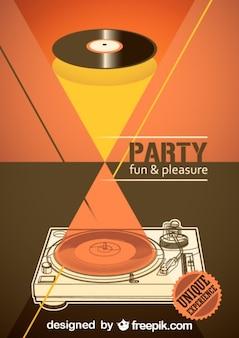 Vector muziek poster