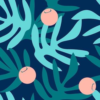 Vector naadloos artistiek helder tropisch patroon met originele modieuze bloemenachtergronddruk, fantastisch bos, de pret van het de zomerstrand