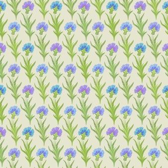 Vector naadloos bloemenpatroon met korenbloemen