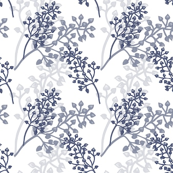 Vector naadloos bloemenpatroon.