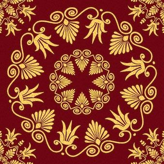 Vector naadloos elegant kant gouden ornament