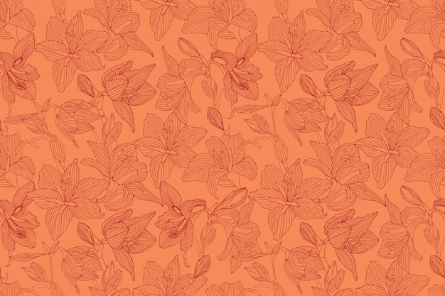 Vector naadloos oranje patroon.