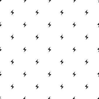 Vector naadloos patroon, bliksem, bewerkbaar kan worden gebruikt voor webpagina-achtergronden, opvulpatronen