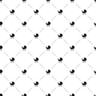 Vector naadloos patroon, buggy, bewerkbaar kan worden gebruikt voor webpagina-achtergronden, opvulpatronen