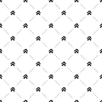 Vector naadloos patroon, huis, bewerkbaar kan worden gebruikt voor webpagina-achtergronden, opvulpatronen
