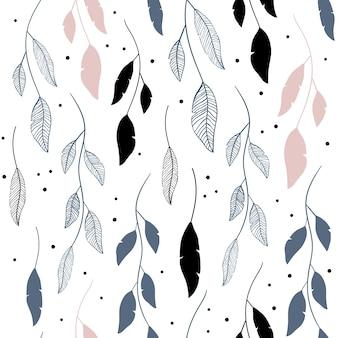 Vector naadloos patroon in bloemenstijl