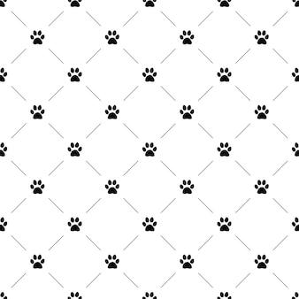 Vector naadloos patroon, kattenpoot, bewerkbaar kan worden gebruikt voor webpagina-achtergronden, opvulpatronen