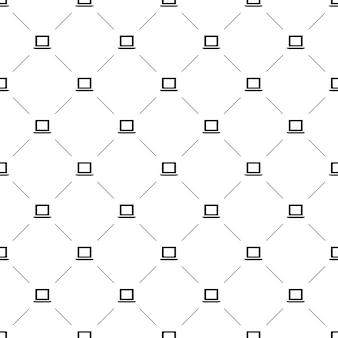 Vector naadloos patroon, laptop, bewerkbaar kan worden gebruikt voor webpagina-achtergronden, opvulpatronen