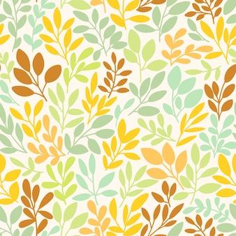 Vector naadloos patroon met bladeren