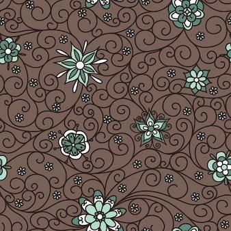 Vector naadloos patroon met bloemen