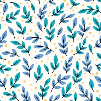 Vector naadloos patroon met gele bladeren. hand getrokken illustratie