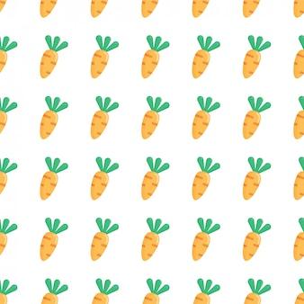Vector naadloos patroon met oranje wortelen