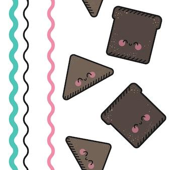 Vector naadloos patroon met snel voedsel.