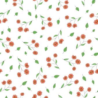 Vector naadloos patroon met tuinbloemen.