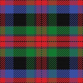 Vector naadloos patroon schots geruit schots wollen stof, zwart, blauw, groen, rood