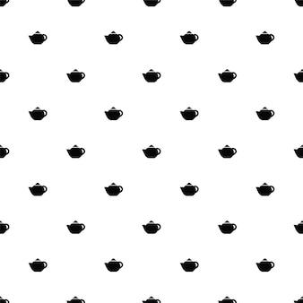 Vector naadloos patroon, theepot, bewerkbaar kan worden gebruikt voor webpagina-achtergronden, opvulpatronen
