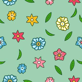 Vector naadloos patroon van de zomer flamboyant bloem.