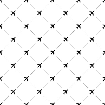 Vector naadloos patroon, vliegtuig, bewerkbaar kan worden gebruikt voor webpagina-achtergronden, opvulpatronen