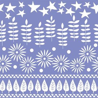 Vector naadloos patroon. wenskaart achtergrond ontwerp. handgetekende achtergrond met bomen, bloemen en bladeren