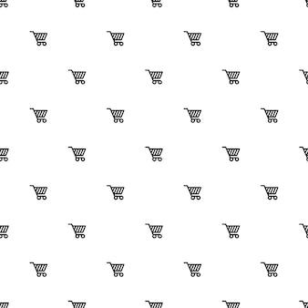 Vector naadloos patroon, winkelwagentje, bewerkbaar kan worden gebruikt voor webpagina-achtergronden, opvulpatronen