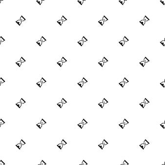 Vector naadloos patroon, zandklok, bewerkbaar kan worden gebruikt voor webpagina-achtergronden, opvulpatronen