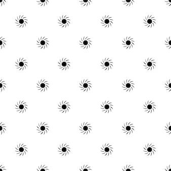 Vector naadloos patroon, zon, bewerkbaar kan worden gebruikt voor webpagina-achtergronden, opvulpatronen