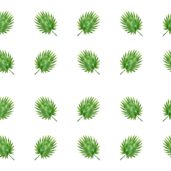 Vector naadloos patroonblad in waterverfstijl