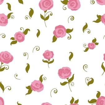 Vector naadloos rozenpatroon