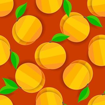 Vector naadloze abrikozen achtergrond