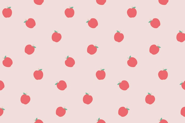 Vector naadloze appel patroon pastel achtergrond
