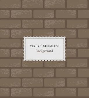 Vector naadloze baksteenachtergrond.