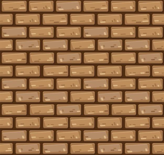 Vector naadloze bakstenen muur.