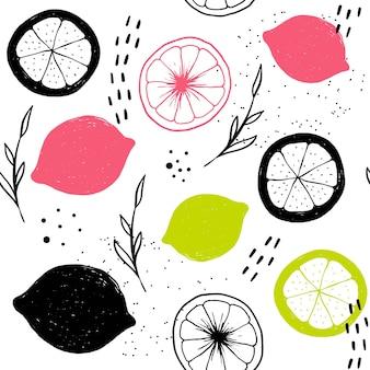 Vector naadloze citrus patroon.