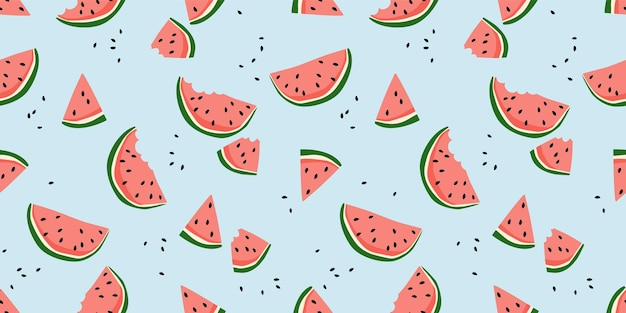 Vector naadloze patroon met watermeloenen