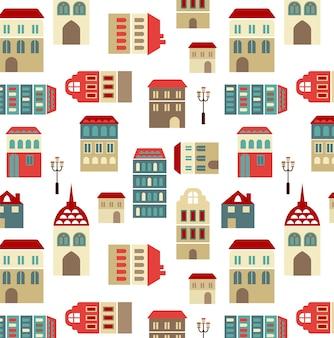 Vector naadloze stad patroon