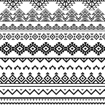 Vector naadloze tribal stijl mono patroon Gratis Vector