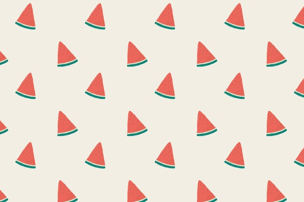 Vector naadloze watermeloen patroon pastel achtergrond