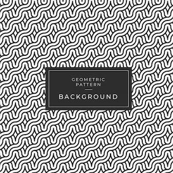 Vector naadloze zwart & wit afgeronde touw lijnen brade patroon