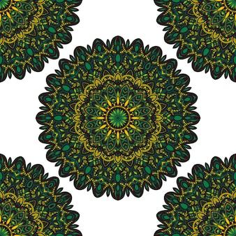Vector natuur naadloos patroon met abstract ornament.