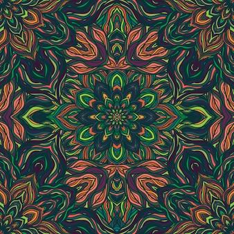 Vector natuur naadloze patroon met abstracte bloemen.