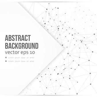 Vector netwerk achtergrond abstracte veelhoek