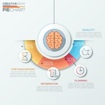 Vector onderwijs concept