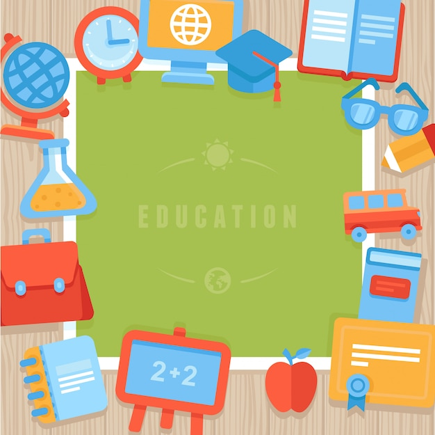 Vector onderwijs wenskaart